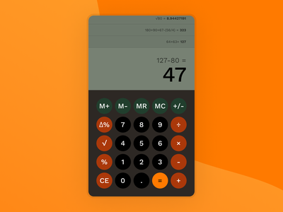 Daily UI 004 - Calculator design ui dailyui