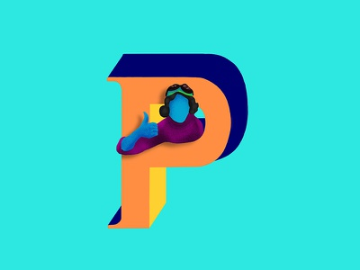 P -  36daysoftype pilot india 36daysoftype illustration