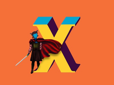 X - 36daysoftype world of women women warrior women 36daysoftype illustration