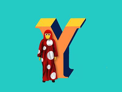 Y - 36daysoftype designers dots circle kusama yayoi art designer 36daysoftype illustration