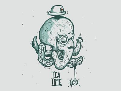 Octopus Dribbble Post fresh invitation creature sea water under time tea gentle octopus start
