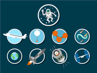 Walk to the ISS icons