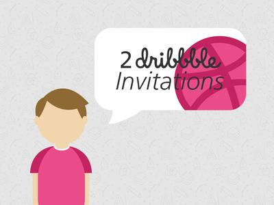 Two Dribbble Invitations