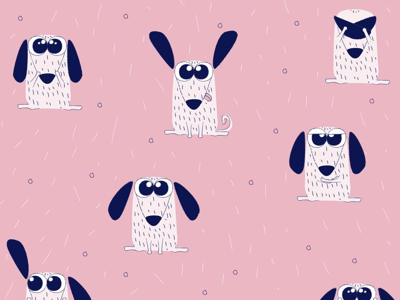 Doggy pattern pink cute pattern pattern design pattern art pattern dog pattern dog illustration cute dog doggy dog adobe illustrator cute animal cute design character vector adobe 2d illustration illustrator