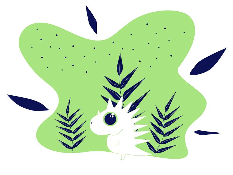 Dino dinosaur dino cute animal cute character 2d illustrator illustration