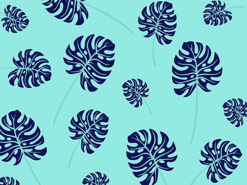 Patterns leaf monstera pattern design patterns pattern design vector adobe 2d illustrator illustration