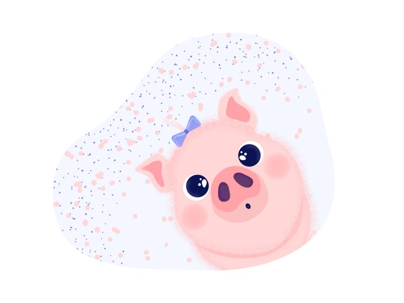 Piggy adobe illustrator piggy pig design cute animal cute vector character adobe 2d illustrator illustration