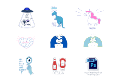 Designer Stickers Set