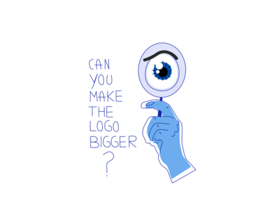 Can you make the logo bigger?