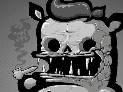 STONE FACE stone face gray rainbow fat monster kiwie