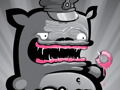 WOOP WOOP woop woop gray rainbow fat monster kiwie