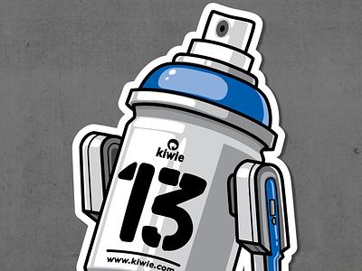 R2D2 13 spray paint graffiti kiwie r2d2 fat monster kiwie wars