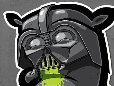 DARTH 13 spray paint graffiti kiwie darth vader fat monster kiwie wars