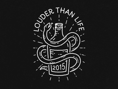 Louder Than Life t-shirt merch bottle whisky snake