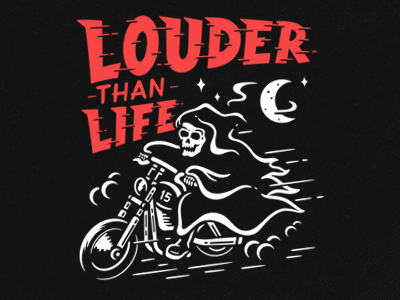 Louder Than Life 2 skeleton skull horror rider reaper grim harley bike
