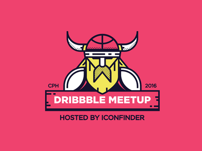 Dribbble Meetup Copenhagen minimal illustration illo viking meetup