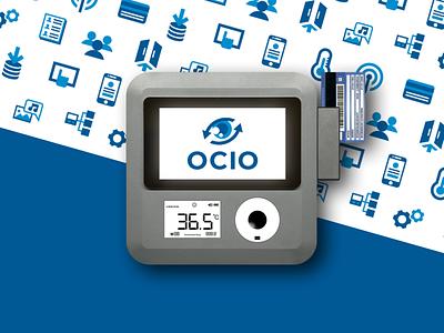 Ocio Logo design / Icons Set / Flyer / UI design vector logo brand blue flyer design eye minimal ui icon design icons product design logo design