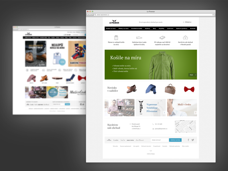 LePremier.cz redesign redesign website tailored suits shirts