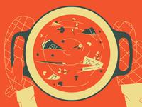 Blog Article Illustration - Branding your Restaurant food restaurant soup editorial editorial illustration illustration