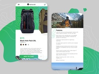Outdoors Ecommerce Page store ecommerce outdoors ui