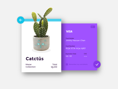 DailyUI Challenge #002 - Credit Card Checkout