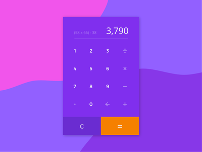 DailyUI Challenge #004 - Calculator swiss numbers colorful layout icon app web calculator 004 landing ui dailyui