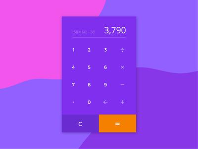 DailyUI Challenge #004 - Calculator
