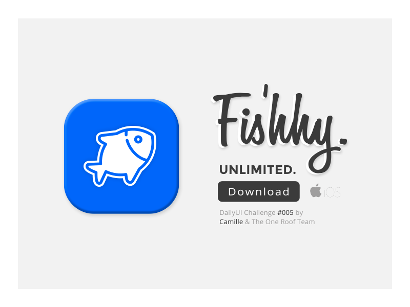 DailyUI Challenge #005 - App Icon swiss download blue layout icon app web fish 005 landing ui dailyui