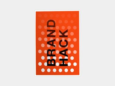 BrandHack Poster Variation - 02 pattern white eye triangle shapes geometric hack red poster