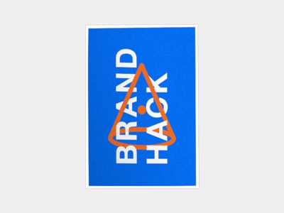 BrandHack Poster Variation - 03 pattern white eye triangle shapes geometric hack red blue poster