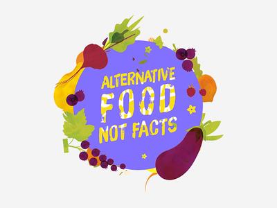 FoodHack Meetup - Alternative Food Not Facts yellow orange veggies fruits facts food purple icon meetup foodhack