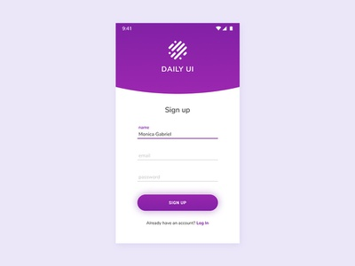 01/100 Daily UI - Sign Up form sign up ui