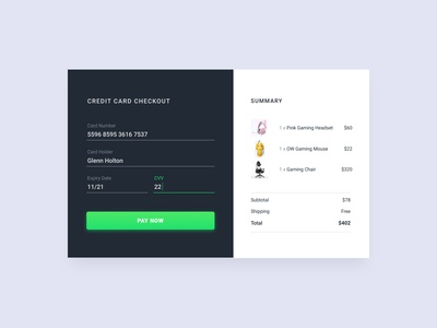 02/100 Daily UI - Credit Card Checkout ui form checkout