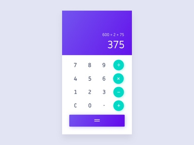 04/100 Daily UI - Calculator ui calculator