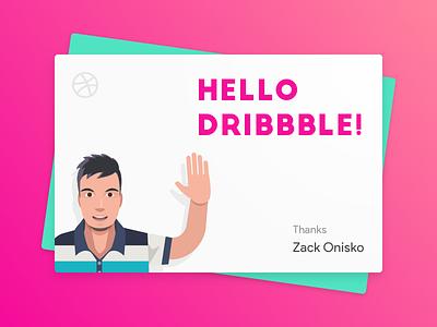 Hello Dribbble! illustration vector graphic design design ui ux material design ui design sketch