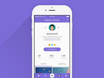 User Profile ux design ui design user profile concept design ux ui