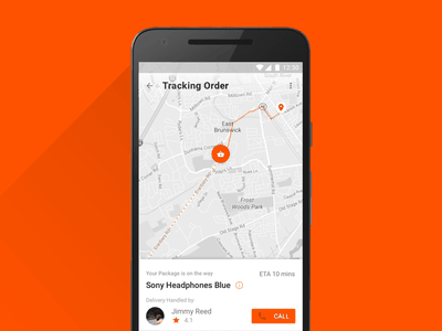 Daily UI 020: Tracking App material design daily ui ux design ui design app mobile android ux ui