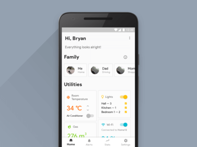 Daily UI 021: Home Monitoring Dashboard daily ui ux design ui design dashboard app mobile minimal android ux ui