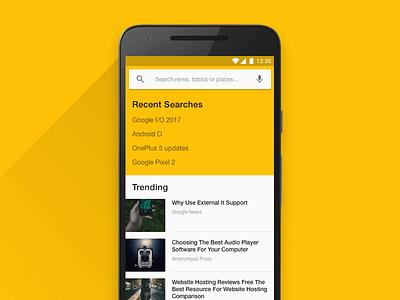 DailyUI 022: Search material design daily ui ux design ui design search app mobile minimal android ux ui
