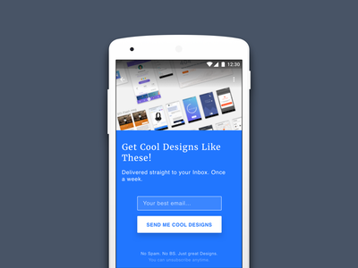 Newsletter Subscription Suleiman material design user experience user interface android app mobile design ui ux