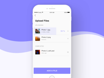 File Upload - iOS App Concept material design user experience user interface apple ios android app mobile design ui ux