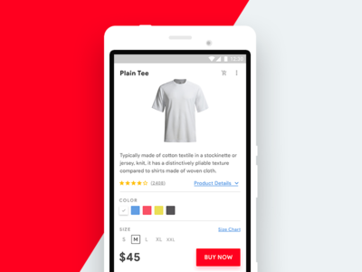 E-commerce Product Customization material design user experience user interface product ecommerce android app mobile design ui ux