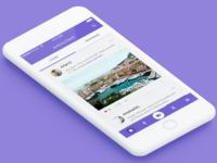 Social Network Activity Feed Concept iOS