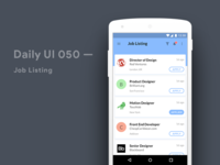 Job Posting Material Design Concept Android