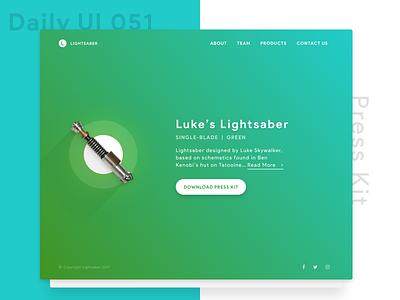 Press Kit Website Concept star wars web design user experience user interface responsive desktop website web design ui ux
