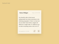Daily UI 065 - Notes Widget