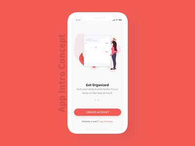 App Intro Concept Design iphonex ios app-intro onboarding mobile design app