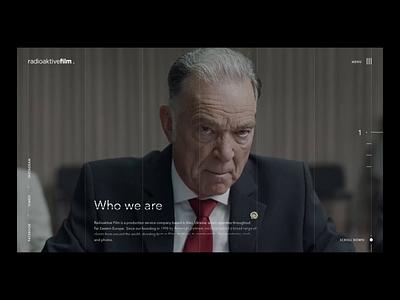 Radioaktive Film audi apple music video production company film homepage desktop design animation motion ux ui