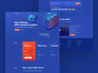 Bitcoin Mining typogaphy site mining cryptocurrency bitcoin ux design ui flat web