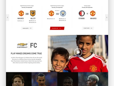 Manchester United Card Design